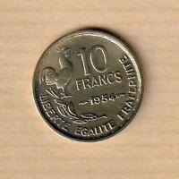 10 francs 1954 Guiraud (La plus rare) N02 Paris F.363/10 - SUP++
