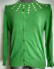Designer MARC JACOBS green cardigan size M 100%Cotton fine knit ---VGC--