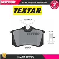 2355402 Kit pastiglie freno, Freno a disco Audi-Seat-Skoda-Vw (MARCA-TEXTAR)