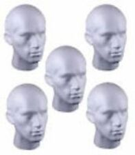 5 X HIGH QUALITY MALE A GRADE POLYSTYRENE DISPLAY HEADS ****SPECIAL OFFER****