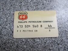 Vintage Gas Oil Credit Charge Card 1980'S PHILLIPS 66 OIL GREAT SHAPE PROP