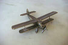 OLD VINTAGE Russian AN-2 SILVER PLATE SMALL AIRPLANE DESK MODEL