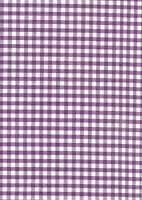 "Purple & White 1/4"" Polycotton Gingham check fabric/material - 1 full metre"