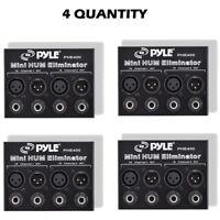 LOT OF (4) Hum/Noise Eliminator 2-Channel Box with XLR Jacks