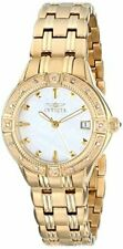 Invicta Womens II Collection Diamond Accented 18k Gold-Plated Watch
