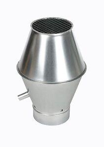 Deflektorhaube, Ablufthaube, DN315, verzinkt, schlank DHMS315