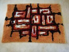 Vintage 70er Jahre SPACE AGE Carpet handgeknüpfter TEPPICH/ Wandteppich 140x100