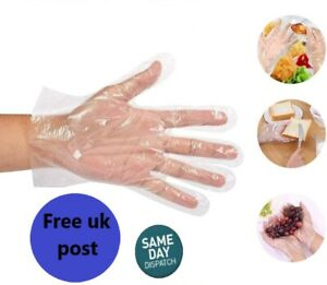 Disposable Plastic PE Polythene Work Strong Food Gloves Powder/Latex Free boxed