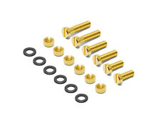 Oyaide SCR-S High Performance Gold Plated Brass Cartridge Screw Set 6, 8, 10mm