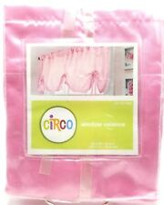 Girls Pink Window Valance 54x22 inch Ribbon Ties Satin Polyester
