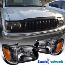 fit 2001-2004 Toyota Tacoma Head Lights+Corner Signal Lamp Black