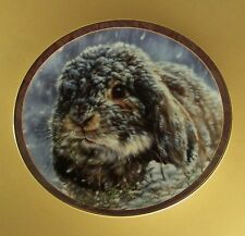 Bunny Tales SNOW BUNNY Plate #7 Seventh Issue Vivi Crandall Rabbit Winter Storm