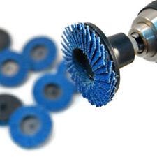 10Pcs 2inch 40Grit Flap Sanding Disc Wheels Type R Roloc Threaded Twist Lock New