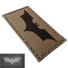 batman dark knight infrared IR coyote brown tan morale 3 5x2 laser hook patch