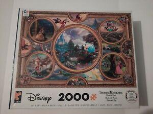 Thomas Kinkade Disney Dreams Collection NEW 2000 piece Jigsaw Puzzle Open Box