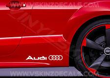 Audi Logo Qualità Superiore Lato Auto Decalcomanie Kit Adesivi Quattro S-line RS
