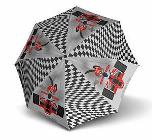 doppler Kids Umbrella Kid Doogy Regenschirm Accessoire Racer Schwarz Weiß Neu