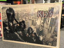 KISS VINTAGE POSTER 1977 NEW YORK SKYLINE IN G+ CONDITION