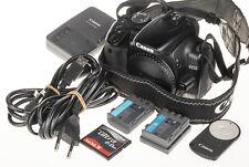 Canon EOS 400D / Digital Rebel XTi DSLR +2×batt., 2GB CF, remote | 4.9k clicks