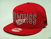 NEW ERA Men Detroit Red Wings Cap Hat 950 Outter Snapback Adjustable Red Cotton