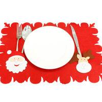 Table de Noël Tapis Ensembles Fourche à double usage Table non-tissé Tapis Cadea