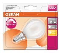 Osram LED SUPERSTAR P25 E14 Tropfenlampe Matt 2.5W 2700K wie 25W dimmbar