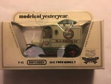 matchbox models of yesteryear Y-12 1912 Ford Model T