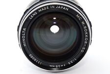AS IS Minolta MC Rokkor SG 28mm F/3.5 Wide Angle Manual Focus Lens From JP #1006