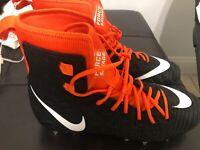 Nike Force Savage Elite Football Cleats BLK/ORANGE AJ6603-015 Men's Size 14