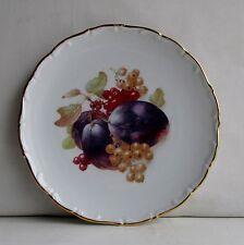 BAVARIA SCHUMANN ARZBERO Germany  Gold Trim Scallop Edged Fruit Design Plate #16