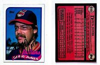 Doug Jones Signed 1989 Topps #690 Card Cleveland Indians Auto Autograph