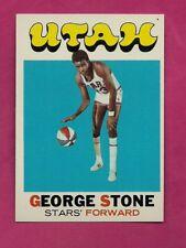 1971-72 TOPPS # 201 UTAH GEORGE STONE  NRMT-MT CARD (INV# A7695)