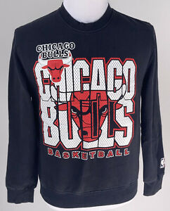 Mitchell & Ness Chicago Bulls NBA Black Crewneck Sweatshirt Size Medium