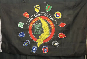 3' X 5'  VIETNAM VETERAN  (OUR CAUSE WAS JUST)  POLYESTER  FLAG