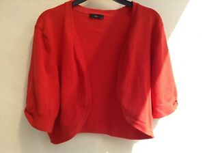 M & Co red ladies bolero jacket shrug. Size 16.