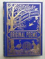 Original Poems by Mrs.Hannah Fisher, Ballarat 1889 Gilt Kangaroo & Emu
