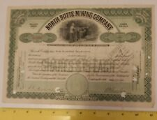 "RARE VINTAGE 5 SHARES ""NORTH BUTTE MINING COMPANY"" STOCK CERTIFICATE DATED 1920"