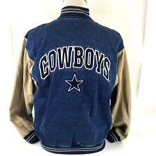 Dallas Cowboys Lee Jacket NFL Denim Mens Med Vintage Stadium