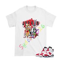Shirt for Air Jordan 6 Retro ''Carmine'' Unisex Tshirt Design 1 White Shirt