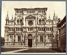 Italie, Certosa di Pavia Vintage albumen print.  Tirage albuminé  18x24  C