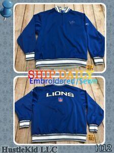 Reebok NFL SEWN Detroit Lions Pullover Sweatshirt Long Sleeve Men Large L❄️H12