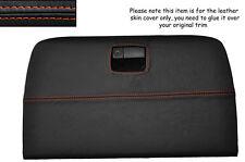 ORANGE STITCH PARCEL SHELF REAR GLOVE BOX LEATHER COVER FITS NISSAN 350Z 02-09