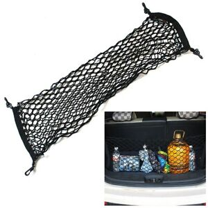 Car Trunk Rear Cargo Organizer Storage Elastic Mesh Net Holder 4 Hooks Universal