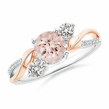 Fashion Two Tone 925 Silver Women's Wedding Rings Champagne Crystal Size 8