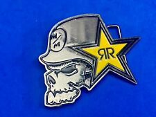 Metal Mulisha RR Rock Star Energy Skull Belt Buckle Advertising Collectible