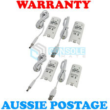 4 x RECHARGEABLE BATTERY PACK (3600mAh) - White - for Nintendo Wii Remote