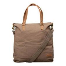 Forbes & Lewis Foxton Tote Canvas Leather Bag Khaki Grey Brown