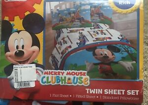 Disney Junior Mickey Mouse Clubhouse Twin Set Cotton Rich New