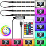 4Pcs USB Powered RGB LED Strip Lighting for TV Computer Background Light