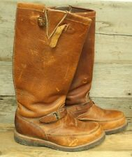 CHIPPEWA MENS BROWN LEATHER MOC TOE SNAKEBITE WORK BOOTS SZ 10.5EE
